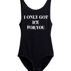 Divided by H&M swim suit one piece black L